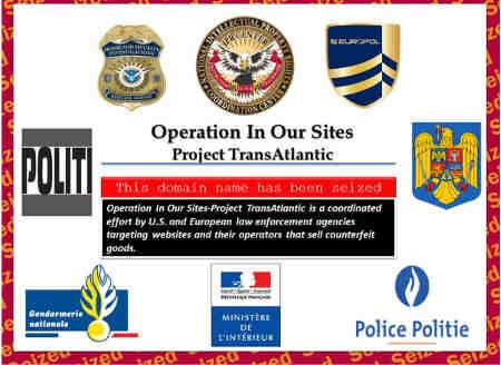 Opération IN OUR SITES de Cyberdouane